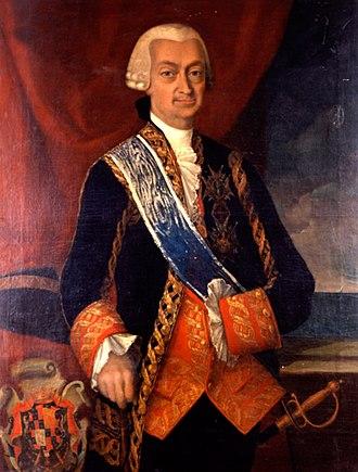 Captain general of the Navy - Image: Retrato del teniente general de la armada Pedro Fitz James Stuart y Colón de Portugal, marqués de San Leonardo (1791)