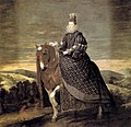 Retrato ecuestre de la reina Margarita de Austria, by Diego Velázquez.jpg