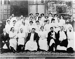 Reunion of neurologists at the Salpêtrière hospital. Photogr Wellcome M0005197.jpg