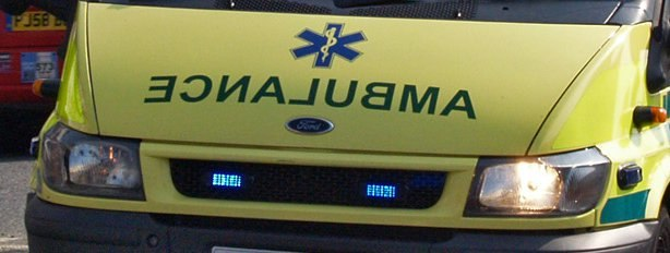 Reverse ambulance with Star of Life