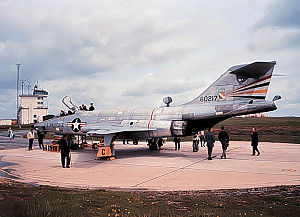 17th Attack Squadron - McDonnell RF-101F-56-MC Voodoo 56-0217 at Laon Air Base France, 1959