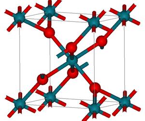 Rhodium(IV) oxide - Image: Rh O2structure