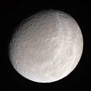 Cassini color image of Rhea taken Jan. 16, 200...