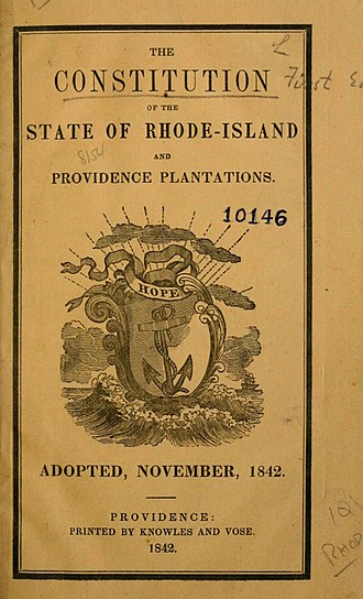 Constitution of Rhode Island - The 1842 Constitution