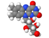 Spacefill model of a minor riboflavin (-10-[(2S,3S,4R)-2,3,4-trihydroxypentyl]) tautomer