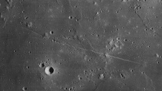 Daniell (crater) - Lunar Orbiter 4 image of Rimae Daniell