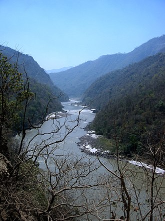 Sivalik Hills - Image: River Ganga meandering through the Shivalik ranges, Rishikesh