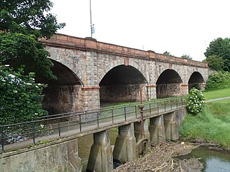 Portway, Bristol - The Portway crosses the River Trym on a six-arch viaduct near Sea Mills.