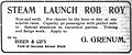 Rob Roy steam launch ad 1905.jpg
