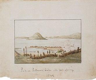 Robert Wynyard - Image: Robert Henry Wynyard Pah on Rotorua Lake with Hot Springs