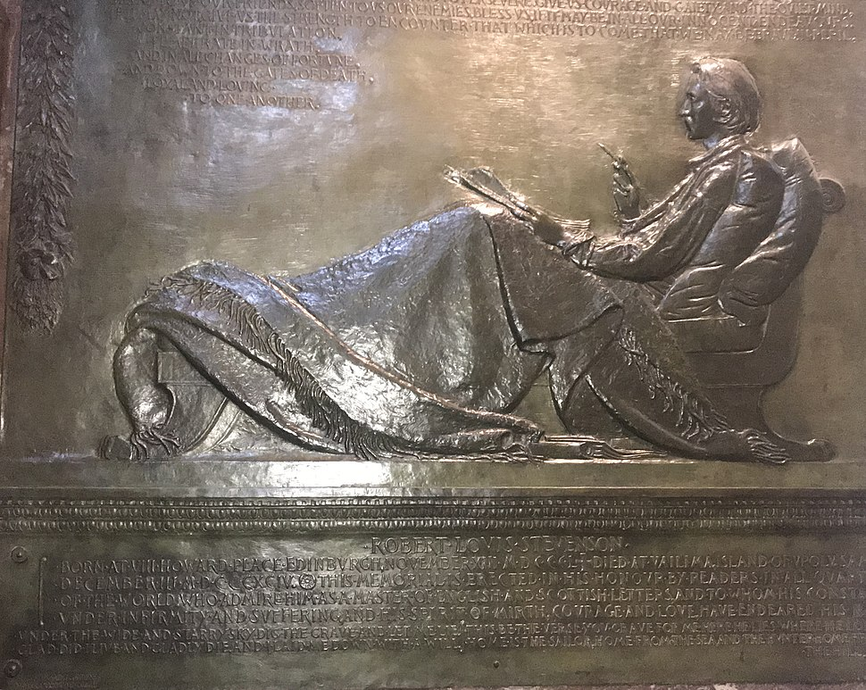 Robert Louis Stevenson sculpture in St. Giles' cathedral