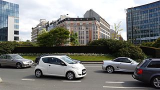 Schuman roundabout square in Brussels, Belgium