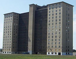 photograph of the last remaining Robert Taylor Homes  building 22Robert Taylor Homes