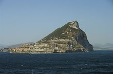 The Rock of Gibraltar, seen from the sea