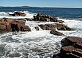 Rocky shore & waves (next to Thunder Hole, Mt. Desert Island, Maine, USA) 27.jpg