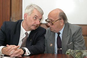 Institute for US and Canadian Studies - ISKRAN director Dr. Rogov and ISKRAN founder Dr. Arbatov