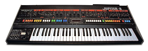 Roland Jupiter-8 Synth, 1983 (white bg)