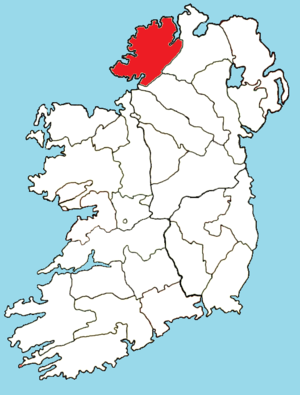 Roman Catholic Diocese of Raphoe - Image: Roman Catholic Diocese of Raphoe map