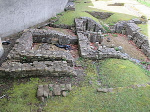 Lancaster, Lancashire - Roman bath house on Castle Hill