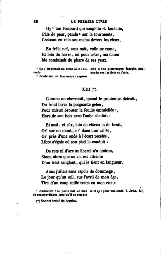 Page ronsard choix de po sies dition 1862 tome - Comment cuisiner un cuissot de chevreuil ...