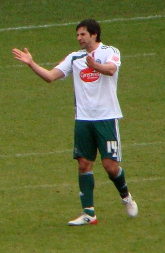Rory Fallon - Fallon playing for Plymouth Argyle in 2009