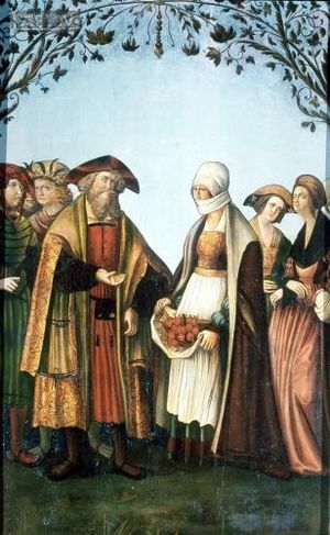 Louis IV, Landgrave of Thuringia - Louis and Elizabeth: Miracle of the roses, altarpiece, Mariahof parish church, 16th century