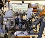 Rotax 582 snowmobile and aircraft engine - Hiller Aviation Museum - San Carlos, California - DSC03056.jpg