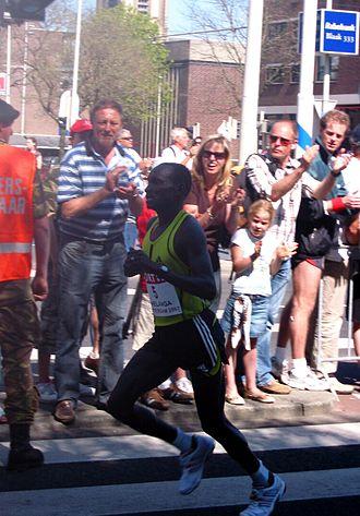 Joshua Chelanga - Joshua Chelanga during the Rotterdam Marathon in 2007