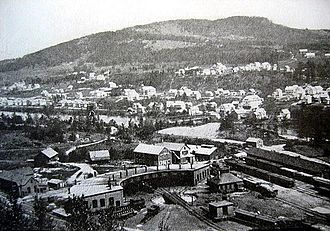 Mexico, Maine - General view of Mexico from Rumford Falls c. 1905