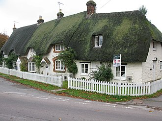 Broad Hinton - Image: Row of thatched cottages on the High Street geograph.org.uk 1566304