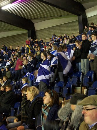 Scotland at the Rugby World Cup - Scottish fans at the 2007 game against Romania