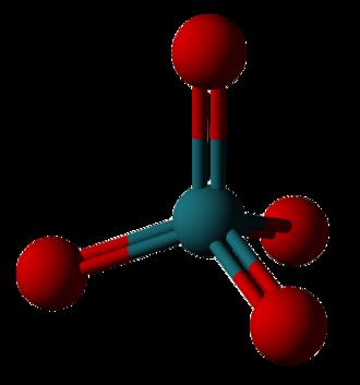 Iridium tetroxide - Image: Ruthenium tetroxide 3D balls