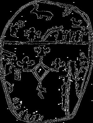 Nærøy manuscript - Image: Sámi mythology shaman drum Samisk mytologi schamantrumma 083