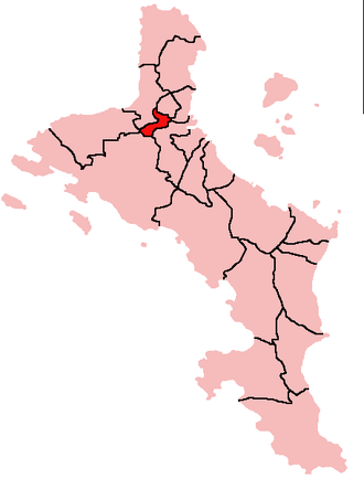 Saint Louis, Seychelles - Location of Saint Louis District on Mahé Island, Seychelles