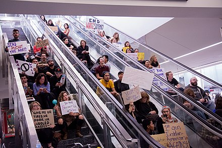 Jews protest the Trump travel ban at San Francisco International Airport