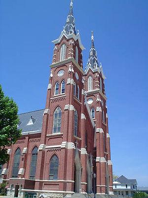 Dyersville, Iowa - The Basilica of St. Francis Xavier in Dyersville.
