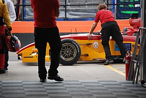 Superleague Formula - The Galatasaray S.K. Superleague Formula car in the pitlane, 2008