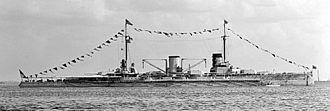 HMS Tiger (1913) - Moltke during a 1912 port visit to the U.S.
