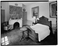 SOUTHEAST BEDROOM, LOOKING FROM SOUTHEAST TO NORTHWEST - La Bergerie, River Road, Barrytown, Dutchess County, NY HABS NY,14-BARTO.V,2-31.tif
