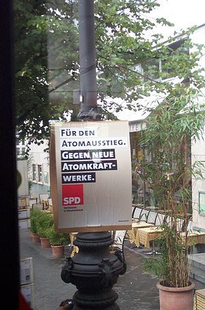 German federal election, 2005 - Election placard of the Social Democratic Party
