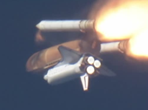 space shuttle launch booster separation - photo #21