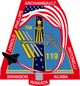 Richard R. Arnold - Image: STS 119 patch