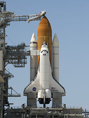 The space shuttle Endeavour is seen at launch ...