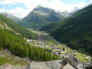 Saas-Grund Municipality in Switzerland in Valais