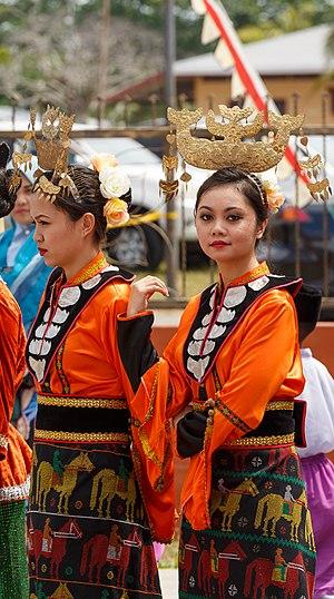 Sama-Bajau - West Coast Bajau women of Sabah in their traditional dress.