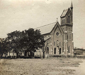 North Albany, Albany, New York - Sacred Heart Church in 1905
