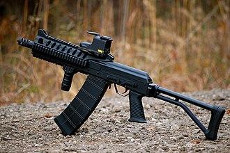 "Saiga-12 - US civilian aftermarket modified ""Saiga-12K"" shotgun"