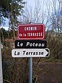 Saint-Just-d'Avray - Chemin de la Terrasse (plaque) - jan 2018.jpg