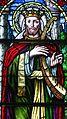 Saint Isidore Catholic Church (Bloomingdale, Illinois) - stained glass, King David - detail.jpg
