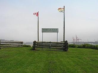 Charles de Saint-Étienne de la Tour - Image: Saint John, NB, Fort La Tour and harbour
